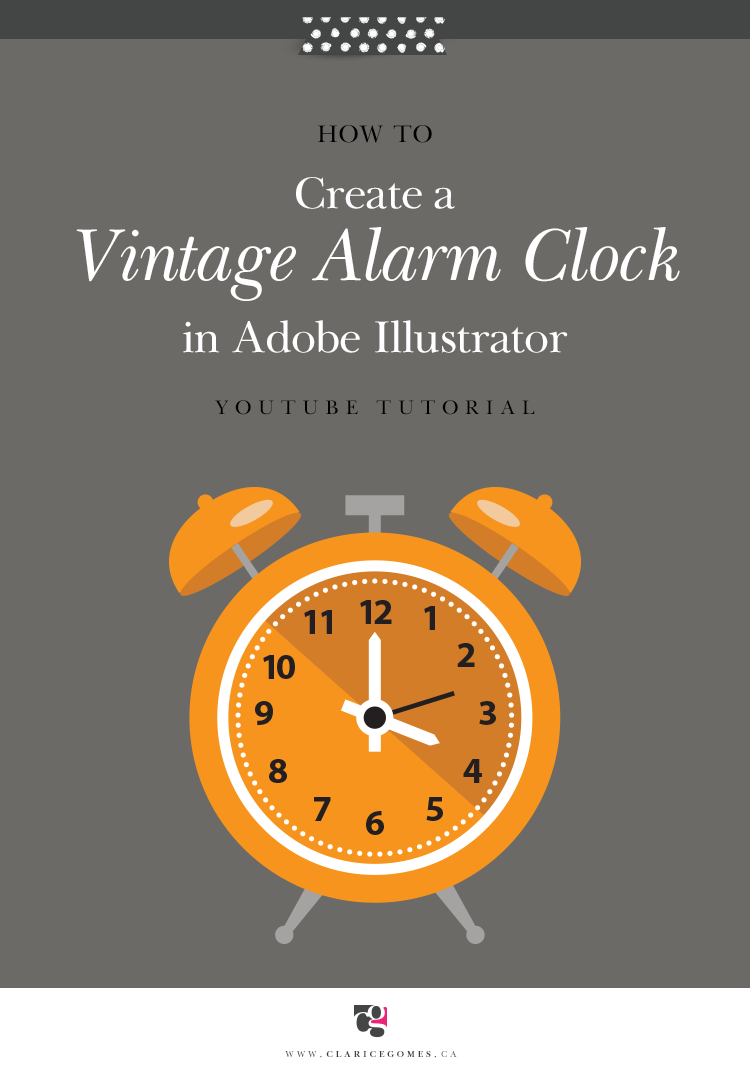 How to create a vintage alarm clock in adobe illustrator