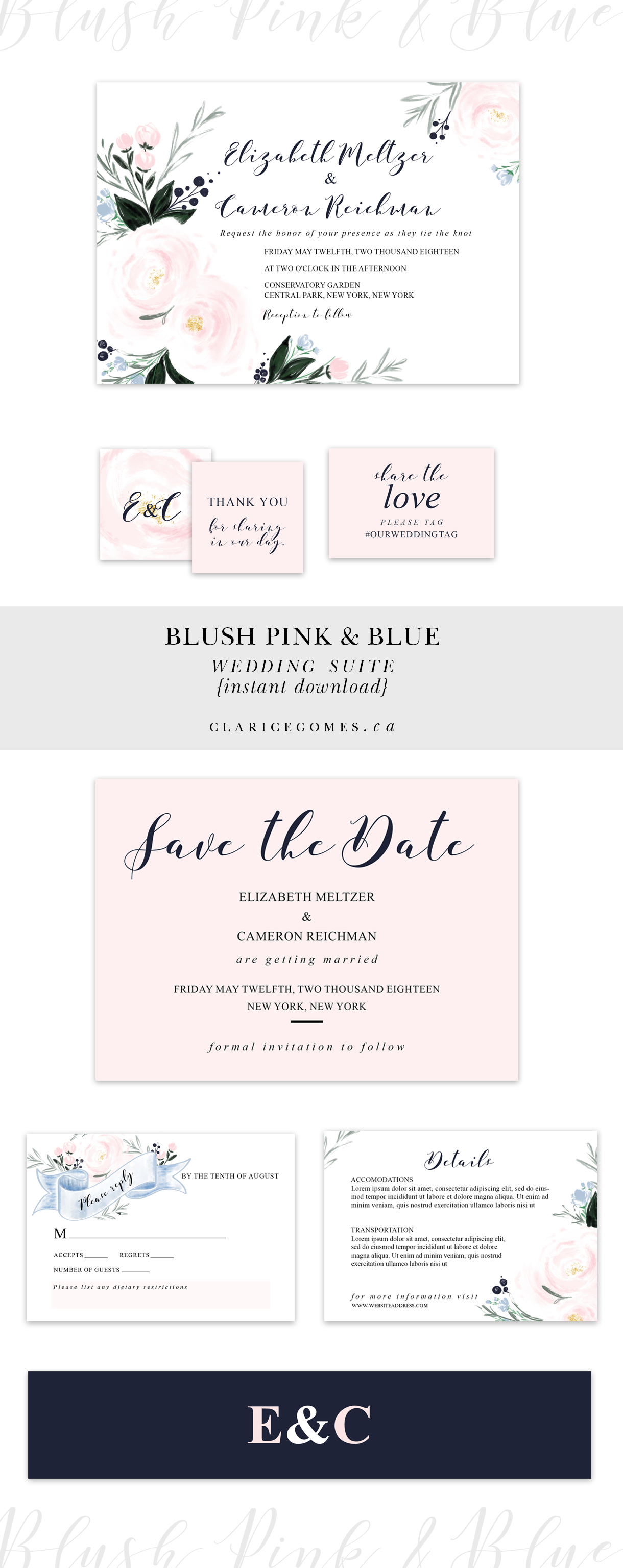 Wedding-suite-layout-blush-pinkblue