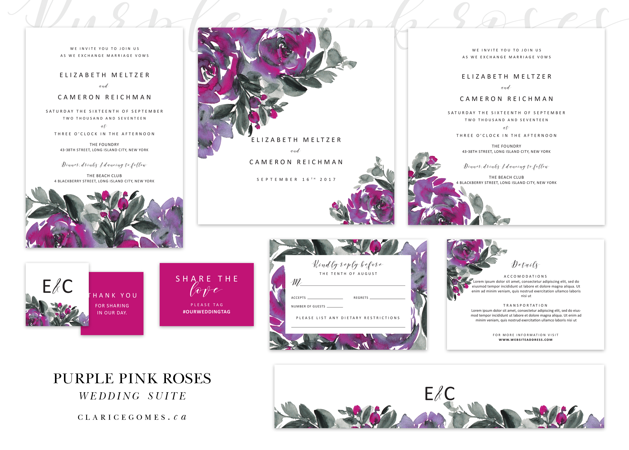 purple-pink-Wedding-suite