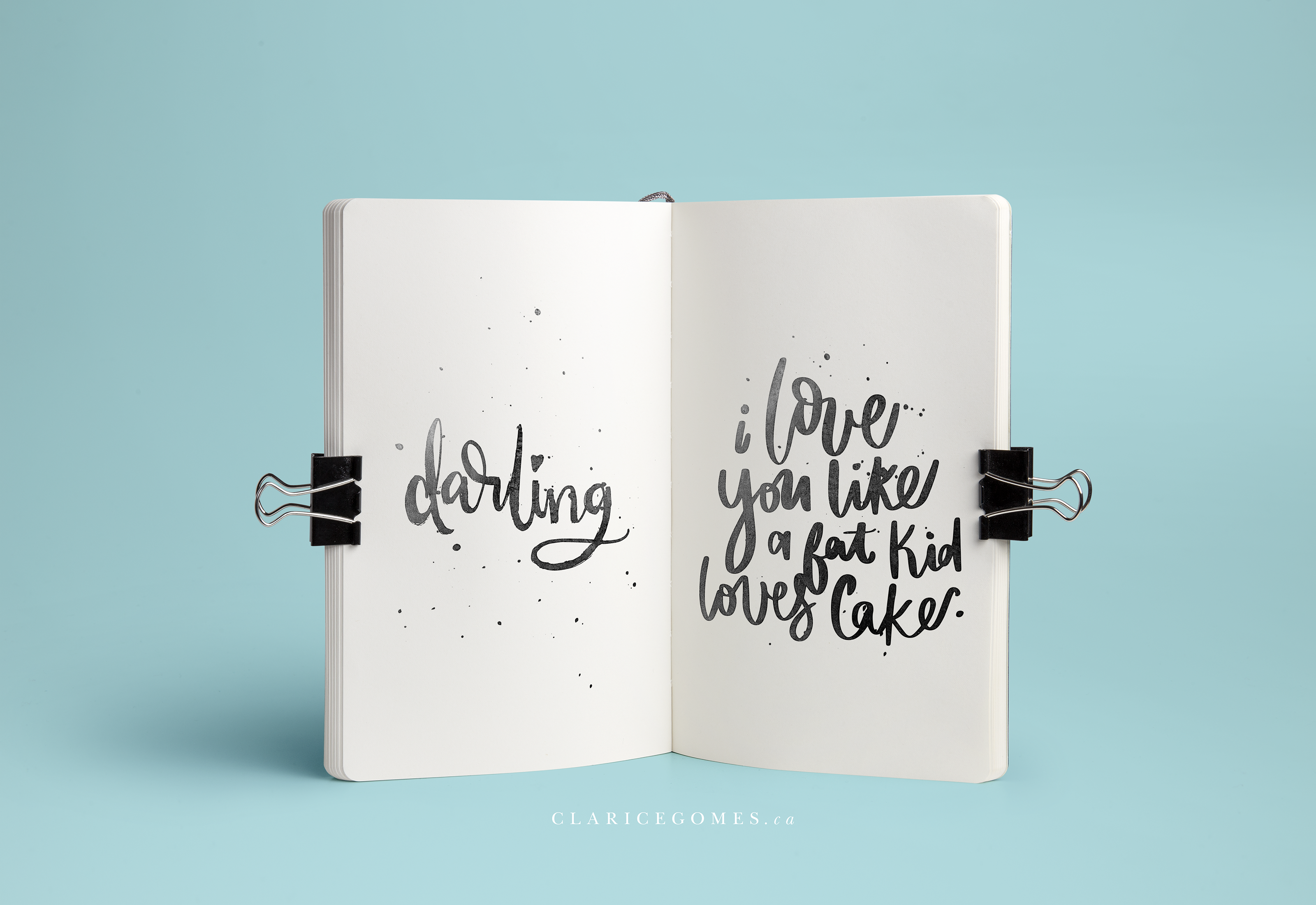 hand lettering clarice gomes designs